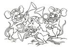 Dibujo para colorear Orquesta