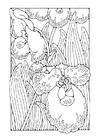Dibujo para colorear orquídea