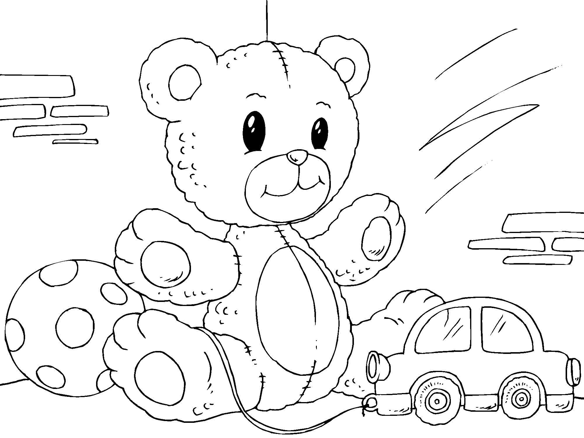 Dibujo para colorear osito de peluche img 22822 - Dibujos de peluches ...