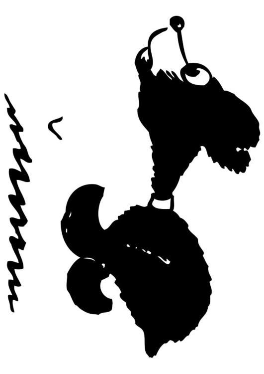 Dibujo para colorear oso corriendo  Img 28331