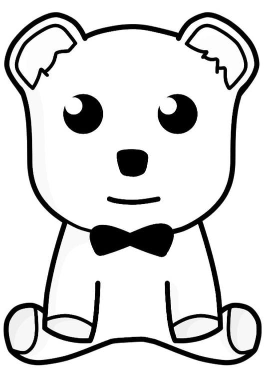 Dibujo para colorear oso de peluche - Img 21156