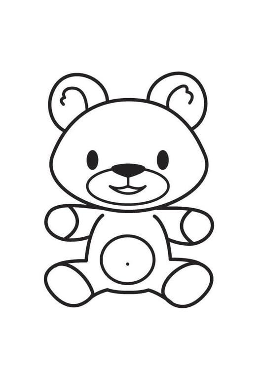 Dibujo para colorear oso - Img 17929