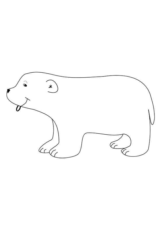 Dibujo para colorear oso polar - Img 27146