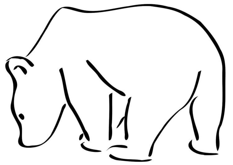 Dibujo para colorear oso polar - Img 19405