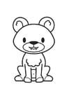 Dibujo para colorear oso