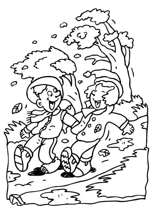 Dibujo para colorear Otoño - Img 6593
