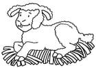 Dibujo para colorear oveja