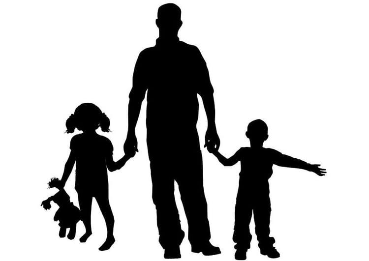 Libro Para Colorear Madre Hija Ilustraciones Vectoriales Clip: Dibujo Para Colorear Padre Con Hijos
