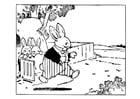 Dibujo para colorear padre conejo