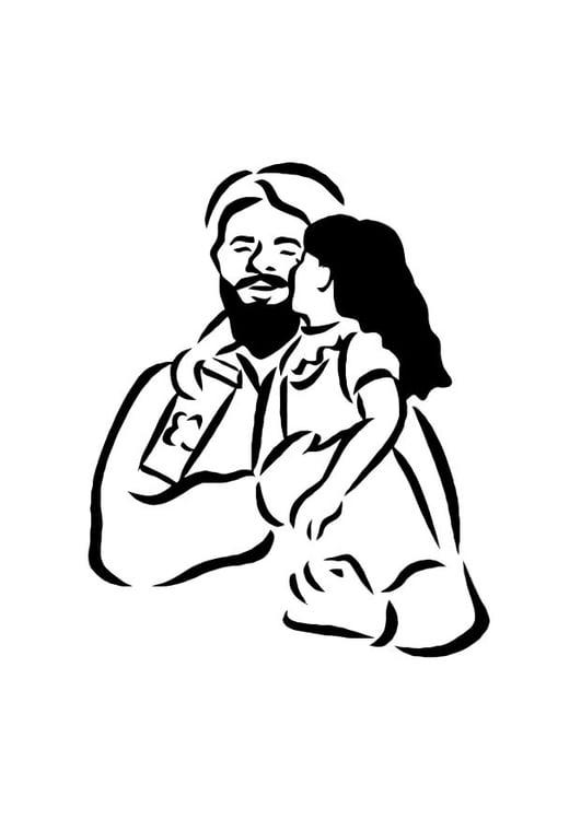 Dibujo Para Colorear Padre E Hija Img 10753
