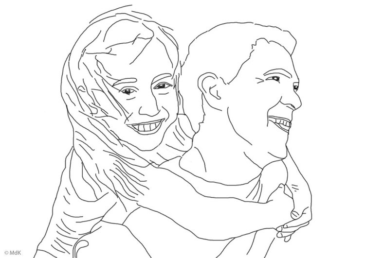 Dibujo Para Colorear Padre E Hija Img 25913