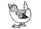 Dibujo para colorear pájaro pequeño