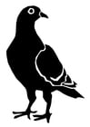 Dibujo para colorear paloma