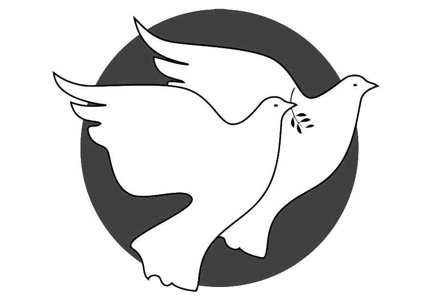 Dibujo para colorear palomas img 19443 - Colombe coloriage ...