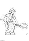 Dibujo para colorear Panadero