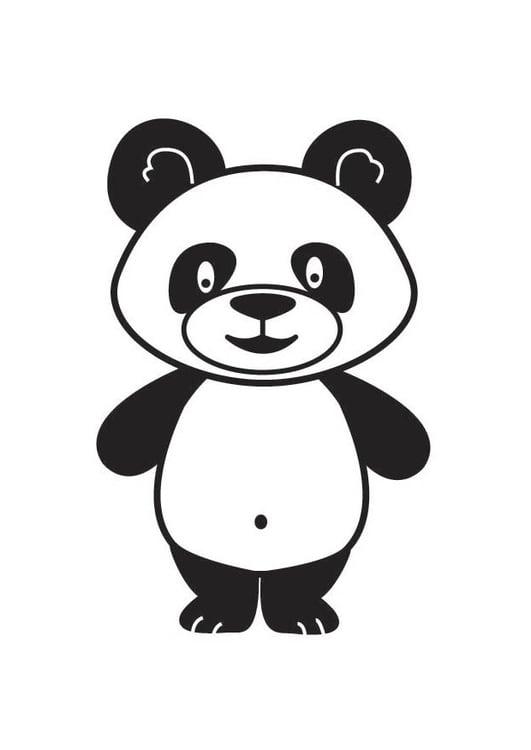 Dibujo para colorear panda - Img 17687