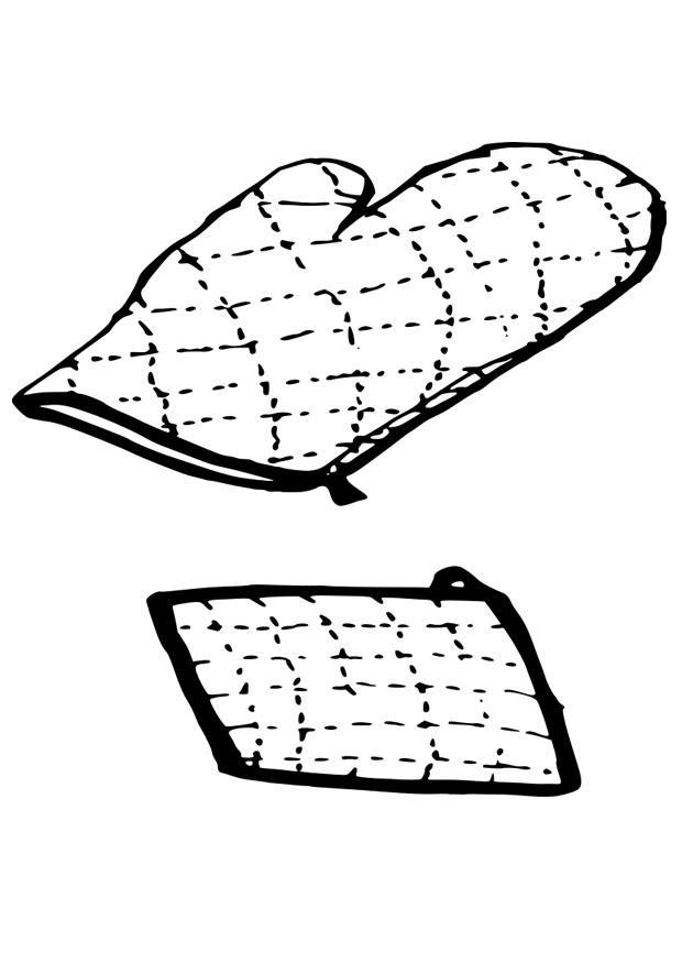 Worksheet. Dibujo para colorear pao y guante de horno  Img 19092