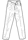 Dibujo para colorear pantalón