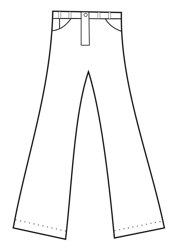 Dibujo Para Colorear Pantalones Img 19152