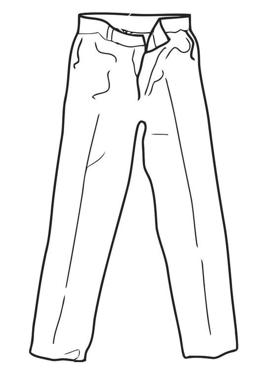 Dibujo Para Colorear Pantalones Img 19332