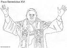 Dibujo para colorear Papa Benedicto XVI