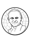 Dibujo para colorear Papa Juan Pablo II