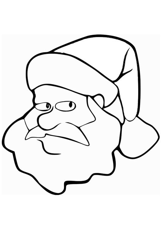 Dibujo para colorear papá noel - Img 20488