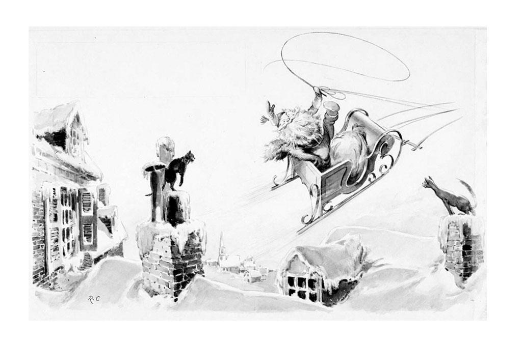 Dibujo Para Colorear Papá Noel En Trineo Img 23379