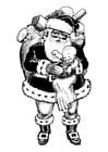 Dibujo para colorear Papá Noel