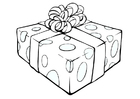 Dibujo para colorear paquete de regalo