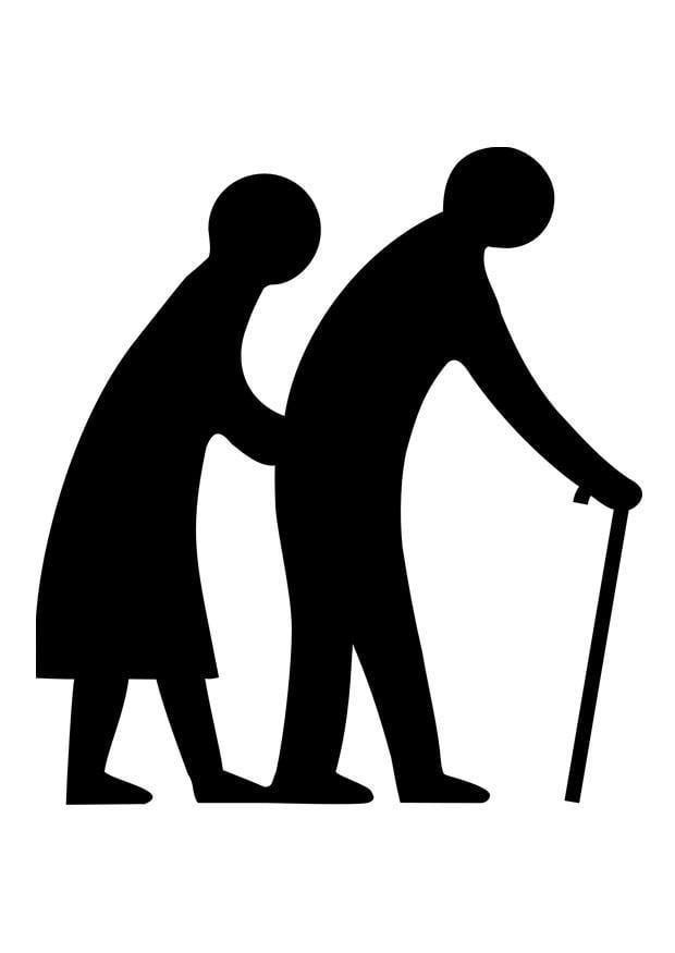 Dibujo Para Colorear Pareja De Ancianos Img 28935 Images