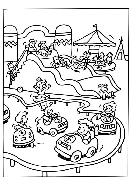 Dibujo Para Colorear Parque De Atracciones Img 6536