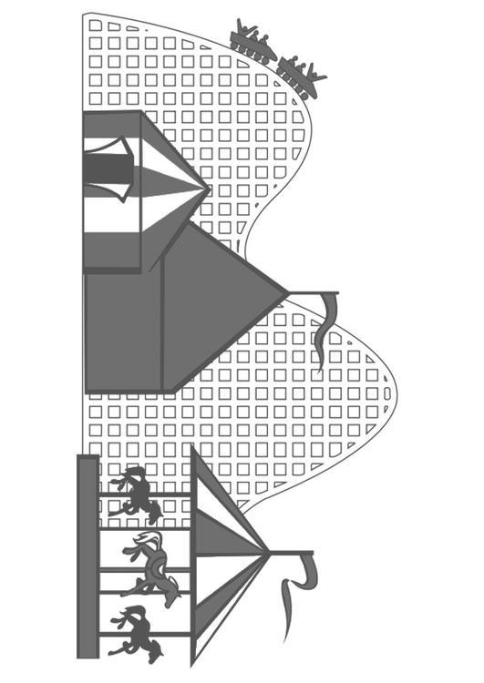 Dibujo para colorear parque de atracciones - Img 19917