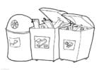 Dibujo para colorear Parque de contenedores