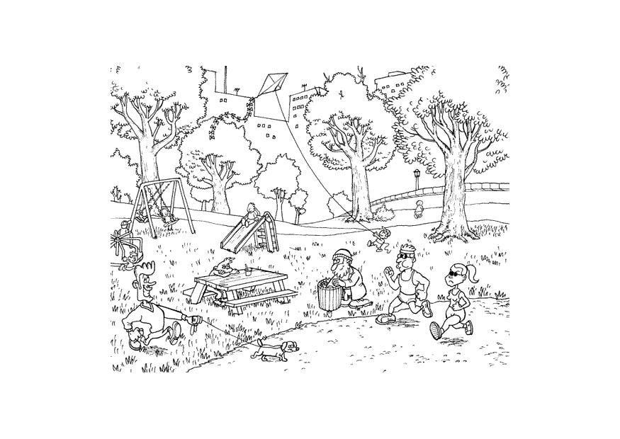 Dibujo Para Colorear Parque Img 9612