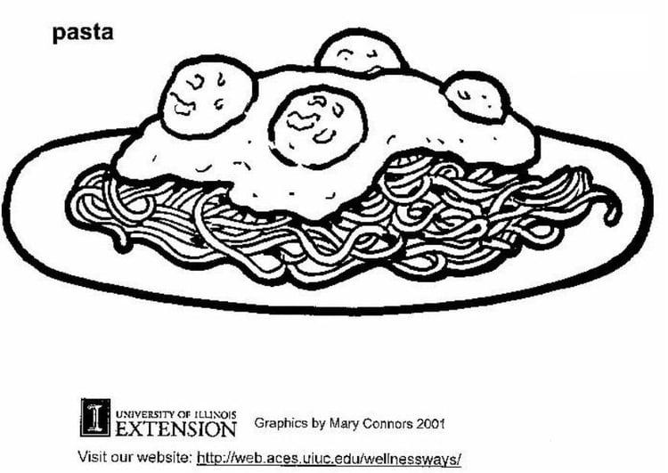 Dibujo para colorear Pasta - Img 5875