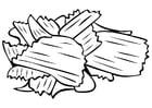 Dibujo para colorear patatas fritas