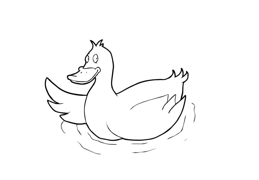 Dibujos De Patos Para Colorear Para Niños: Dibujo Para Colorear Pato