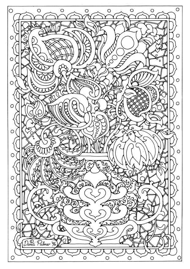 Contemporáneo Patrón Fresco Para Colorear Galería - Dibujos Para ...