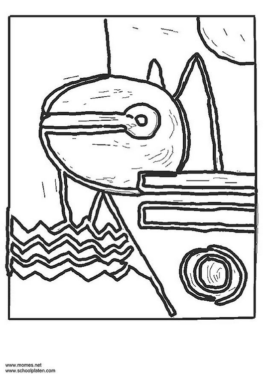 Dibujo para colorear paul klee img 3188 for Paul klee coloring pages