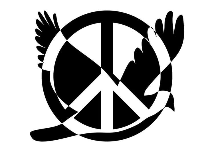 Imágenes Para Colorear Dibujos Del Día De La Paz: Dibujo Para Colorear Paz