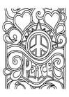 Dibujo para colorear paz
