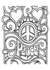 Dibujo para colorear peace