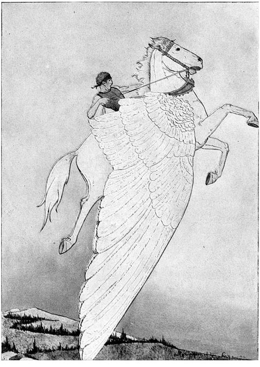 Dibujo para colorear Pegaso en caballo alado - Img 11238