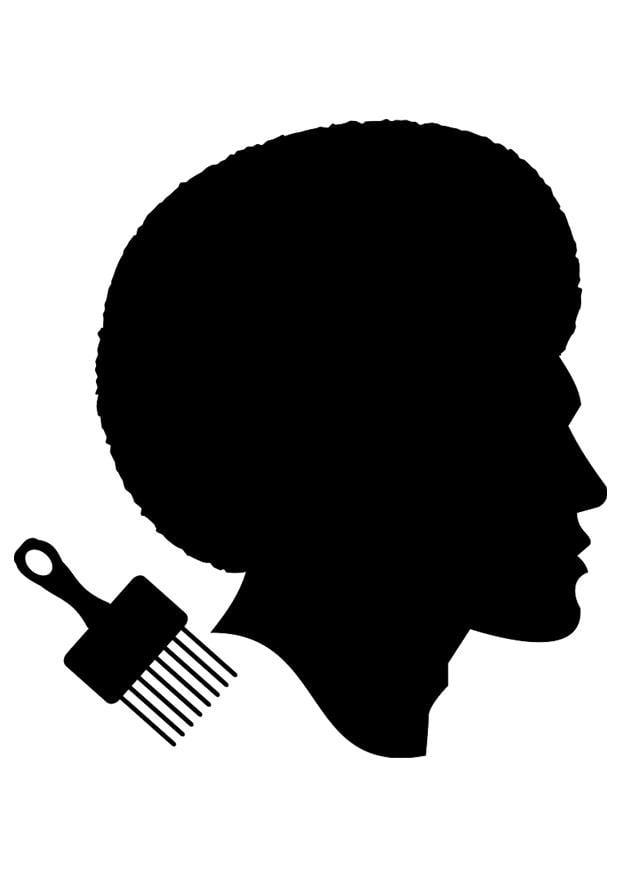 Dibujo Para Colorear Peinado De Hombre Africano Img 23035