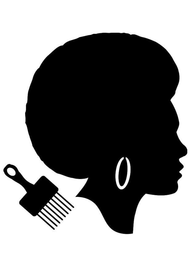 dibujo para colorear peinado de mujer africana img 23040