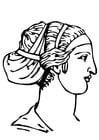 Dibujo para colorear peinado griego