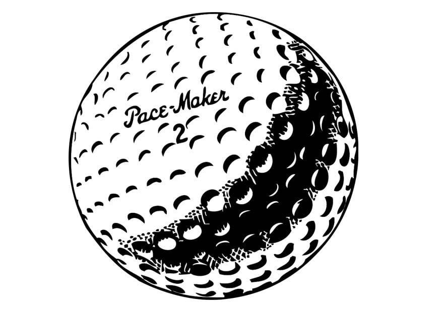 Dibujo para colorear pelota de golf - Img 17336