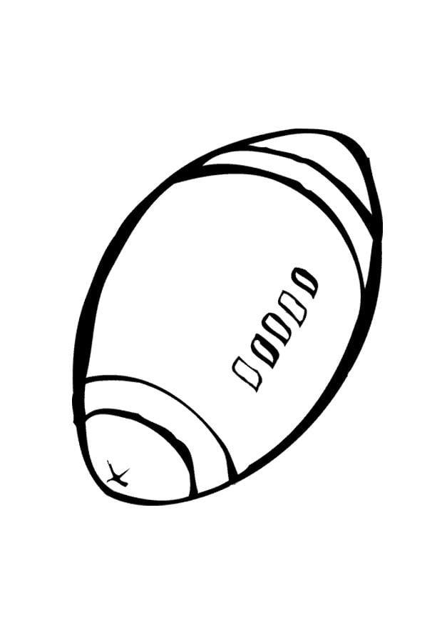 Dibujo para colorear Pelota de rugby - Img 10398