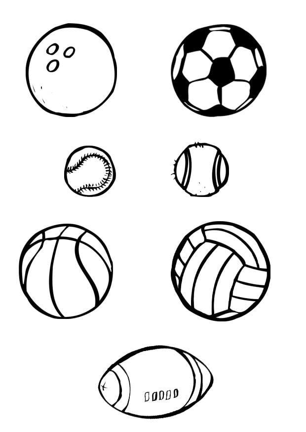 Dibujo para colorear Pelotas - deporte - Img 12027